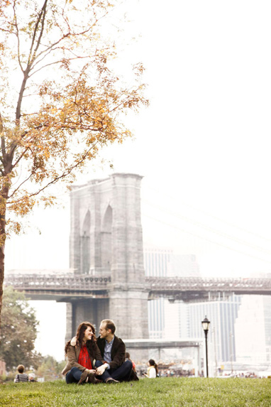 Brittany & Phil Engagement Photos DUMBO Brooklyn